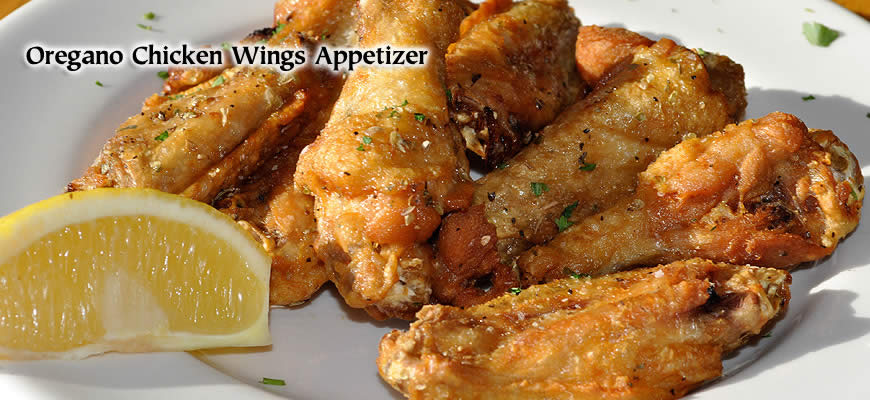 Christos Oregano chicken wings appetizer