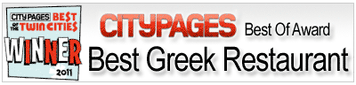 "City Pages names Christos ""Best Greek Restaurant"""