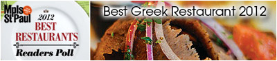 "MSP Magazine names Christos ""Best Greek Restaurant"""