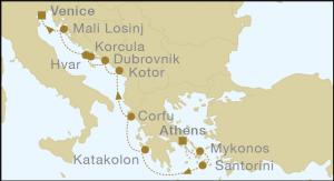 Christos Greek Tour Map