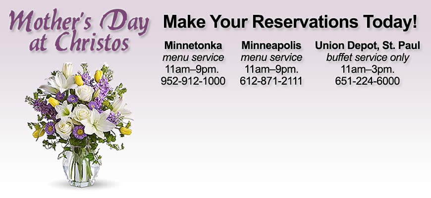 Treat Mom to Brunch at Christos this Mothers Day