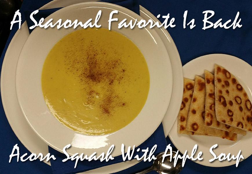 Acorn Squash With Apple Soup