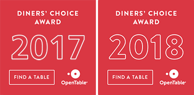 2018 Opentable Diners Choice Online Badge