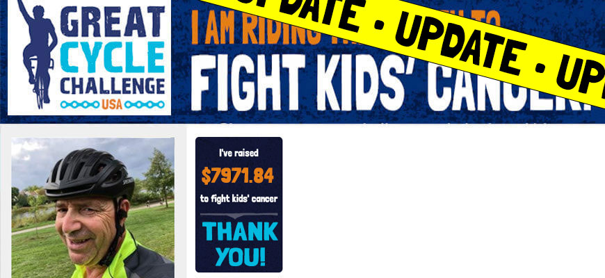 UPDATE. Christos Chef Mohamed rides to fight kids cancer.