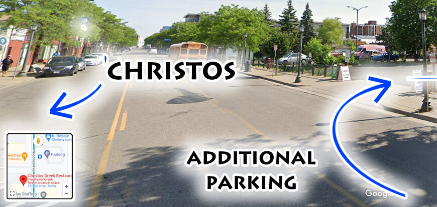 Additional Christos Parking Now Available