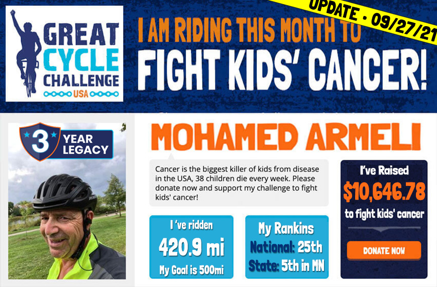 Christos Chef Mohamed is riding to fight kids cancer